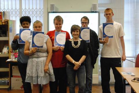 Community Reporters with their certificates