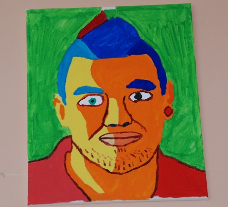 Painting of Jack Hunter Spivey by Greenbank College student