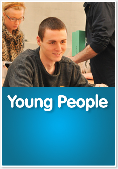 Young person in functional skills classroom