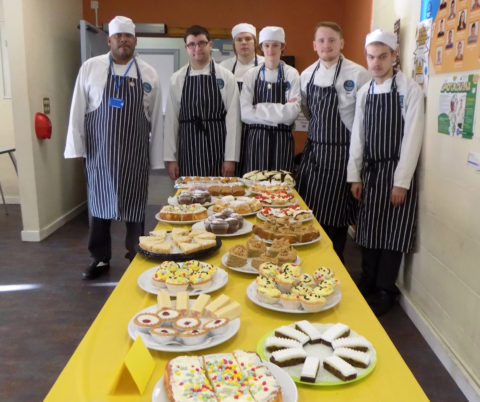 Children in Need 2016 Cake Sale by Catering Students