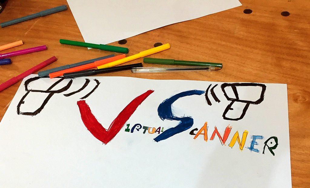 Virtual Scanner logo design