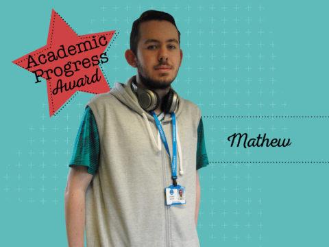 Academic Progress Award Winner - Mathew