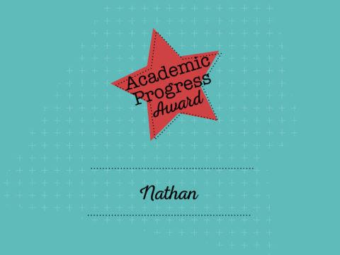 Academic Progress Award Winner - Nathan