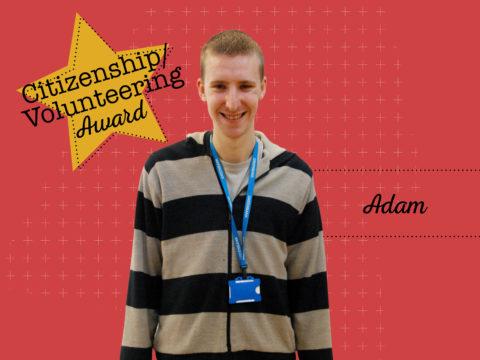 Citizenship/Volunteering Award Winner - Adam