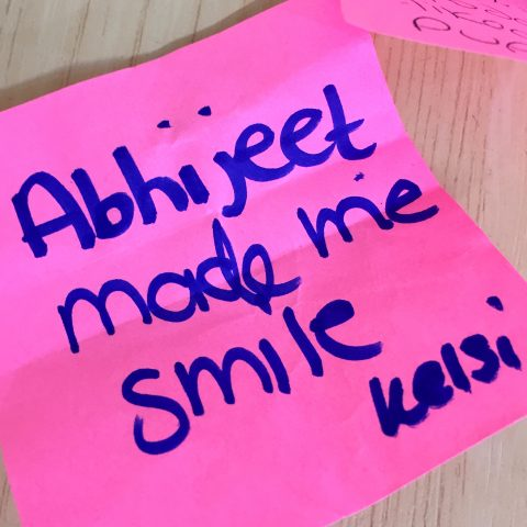 Abhijeet made me smile