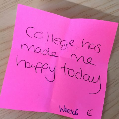 College has made me happy today